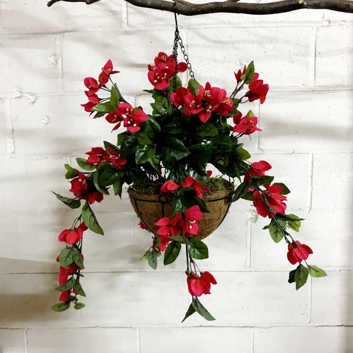 Whole Foods Florist Wedding: Bougainvillea - Artificial Hanging Baskets