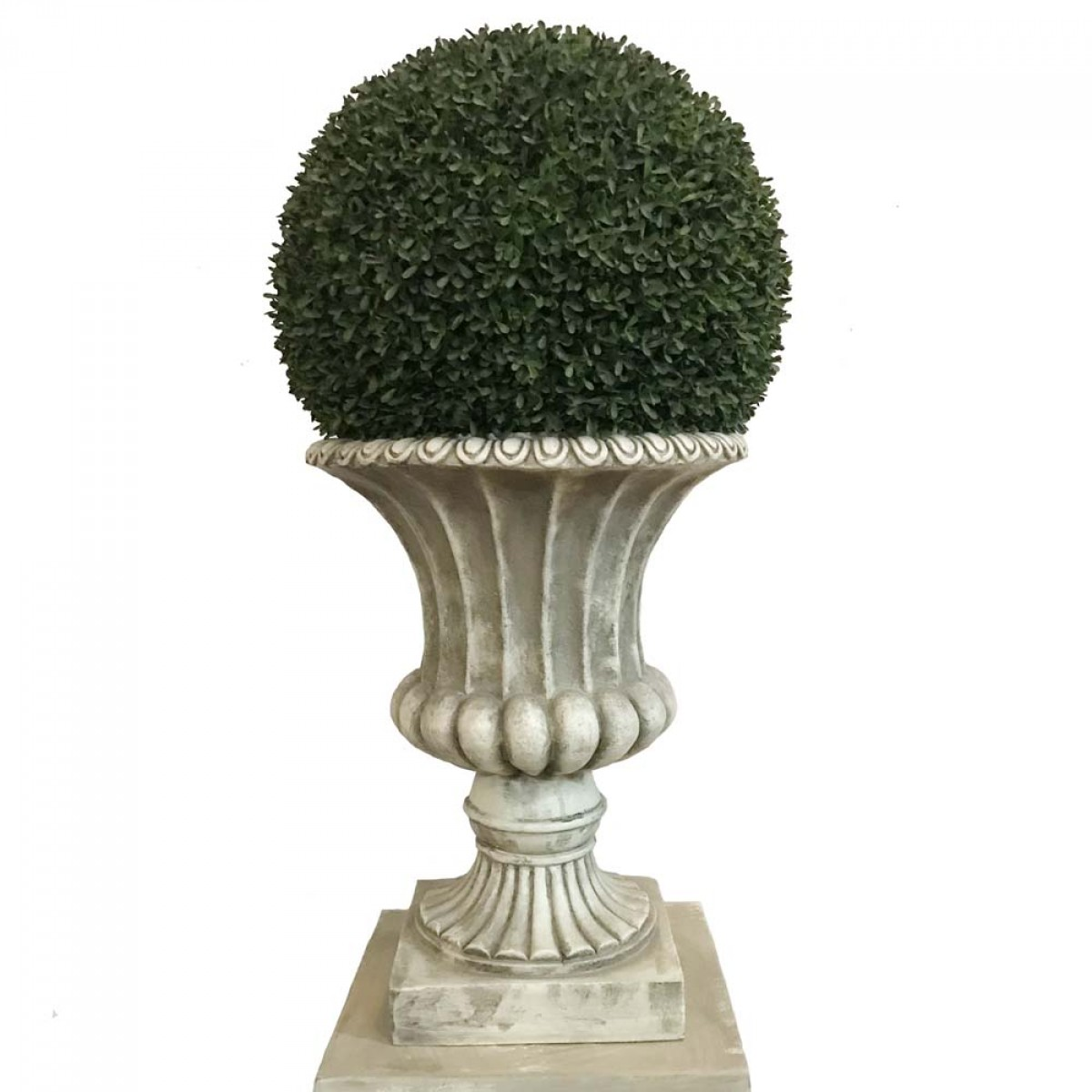 Fibreglass Pedestal and Urn | Artificial Trees and Flowers Wholesale