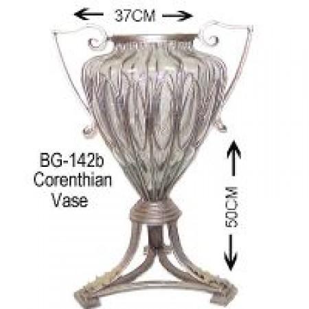 Glass Corenthian vase