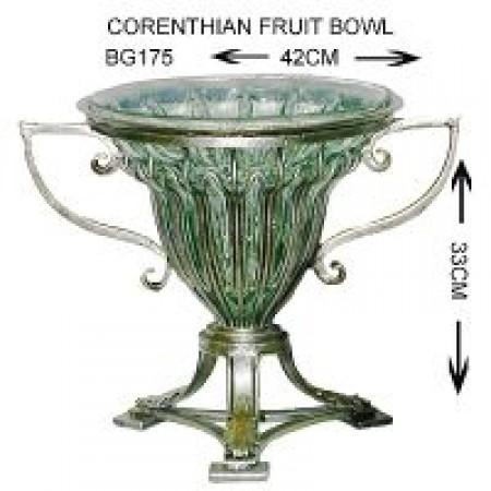 Glass Corenthian fruitbowl