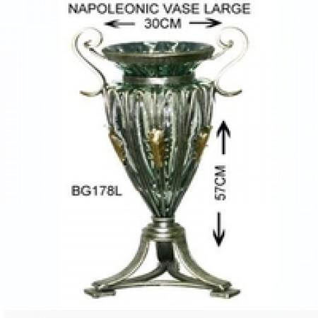 Glass Napoleonic vase