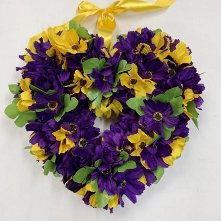 Cosmos Heart Wreath