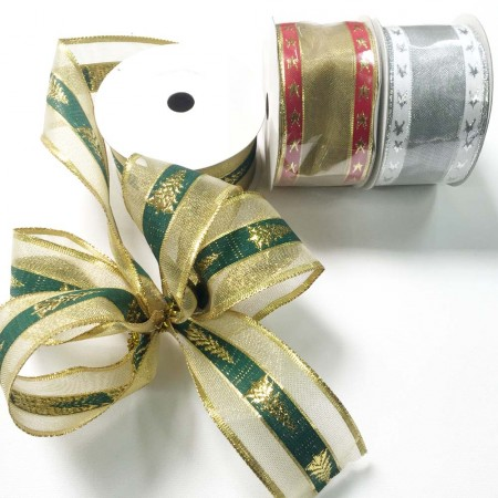 Metallic Xmas Ribbon 50mm