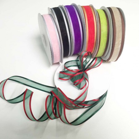 Satin 2 toned ribbon 22mm