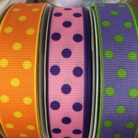 Grosgrain with Dots 22mm