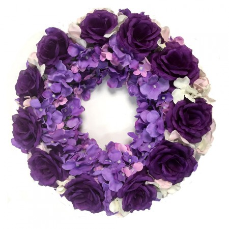 Rose Hydrangea Wreath