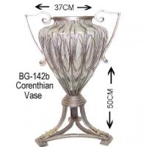 Glass Corenthian vase