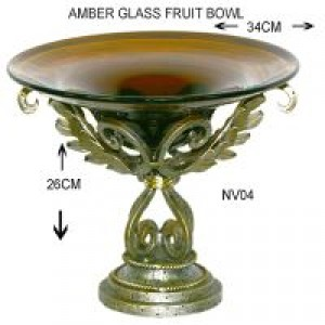 Glass Versailles fruitbowl