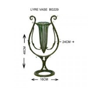 Glass Lyre vase
