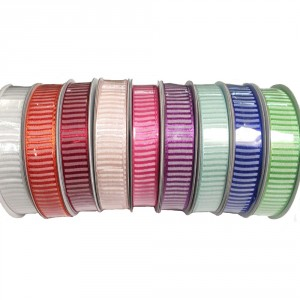 Striped Ribbed Ribbon 15mm